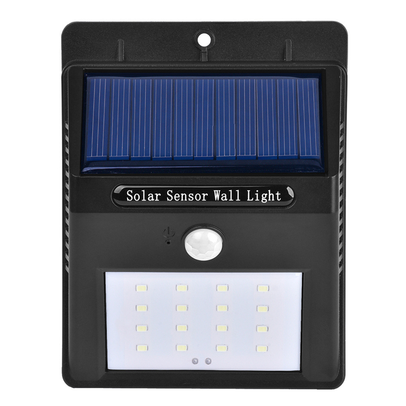 Frostfire Solar Wall Light With Pir Motion Sensor : 16 LED Solar Powered PIR Motion Sensor Security Wall Garden Light Lamp Outdoor eBay