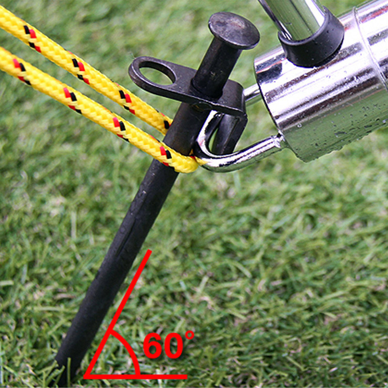 Heavy Duty Camping Black Steel Metal Tent Canopy Stakes