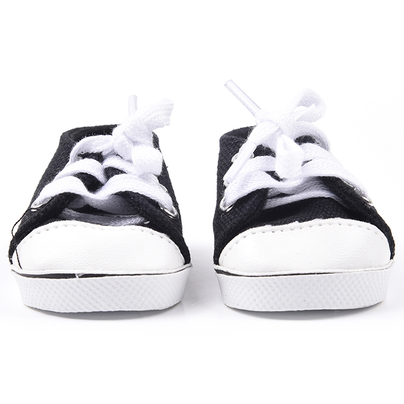 black canvas tennis sneakers shoes for 18 quot doll clothes