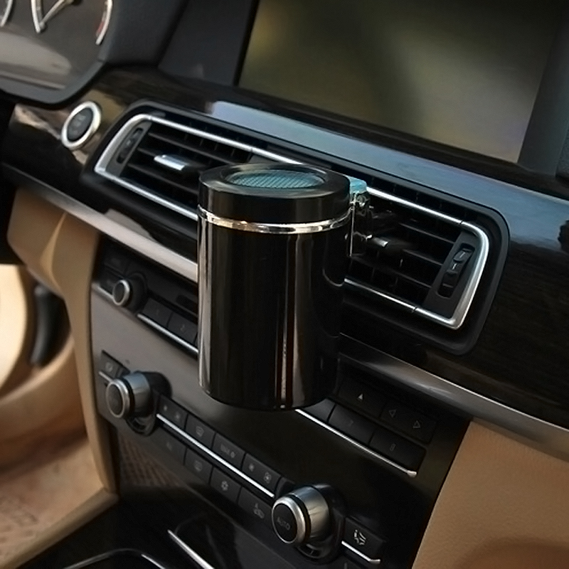 portable car interior led light ashtray auto travel cigarette ash holder cup ebay. Black Bedroom Furniture Sets. Home Design Ideas