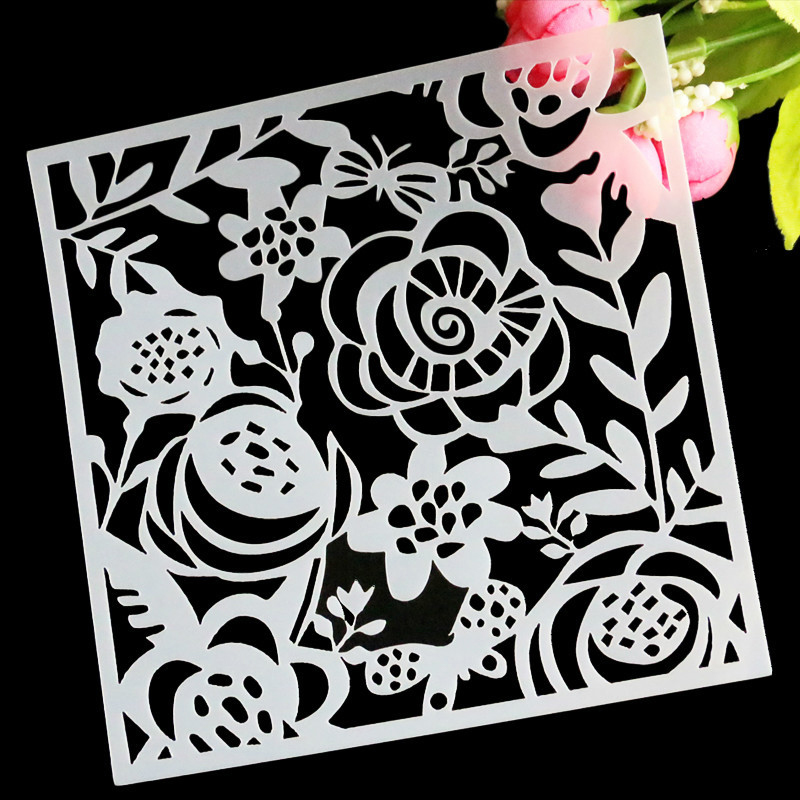 Cake Decorating Stencils Uk : Flower Emboss Fondant Cake Stencil Mould Border Side Lace ...