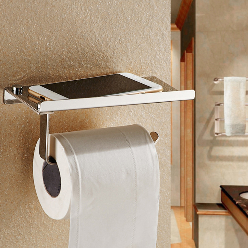 Wall Mounted Bathroom Toilet Paper Holder Rack Tissue Roll ...