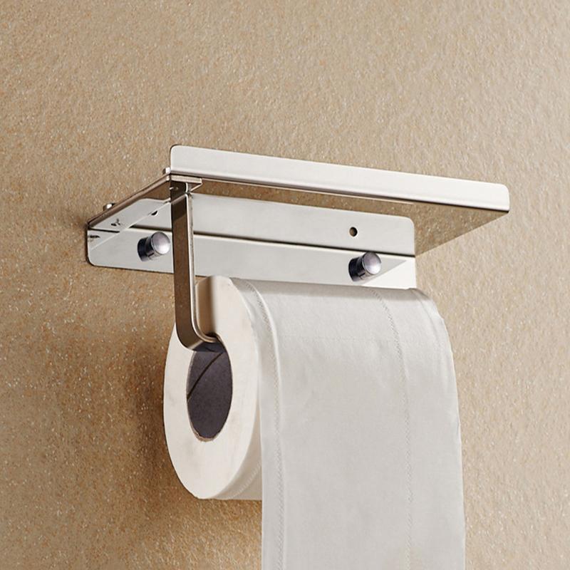 Chrome Stainless Steel Bathroom Paper Holder Toilet Tissue