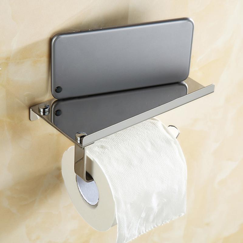 chrome inox porte rouleau de papier hygi nique support mural salle bain toilette. Black Bedroom Furniture Sets. Home Design Ideas
