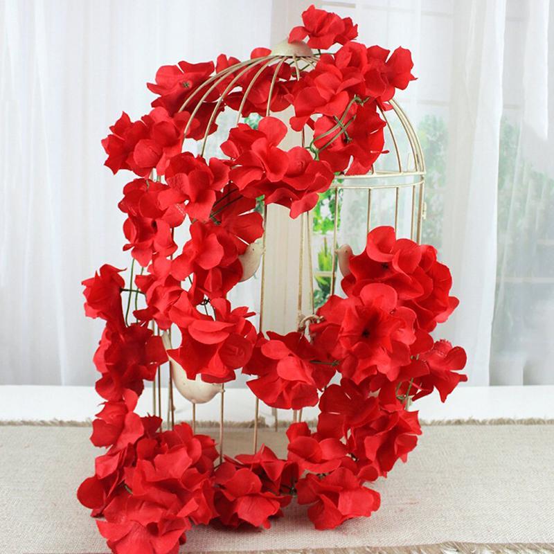 artificial fake silk flowers ivy vine hanging garland wedding home party decor ebay. Black Bedroom Furniture Sets. Home Design Ideas
