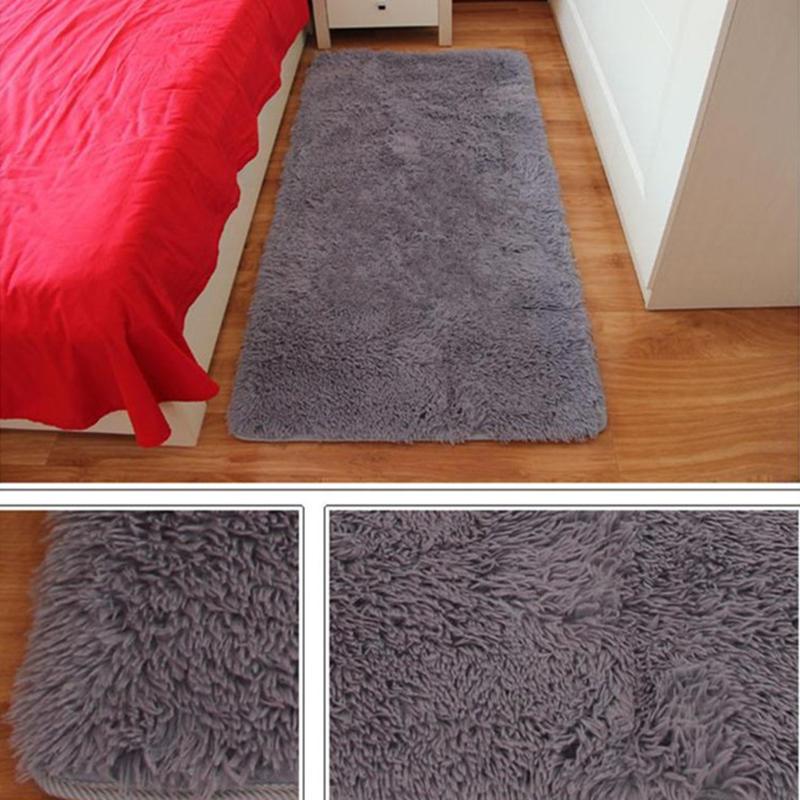 fluffy anti skid shag area rug dining living room carpet