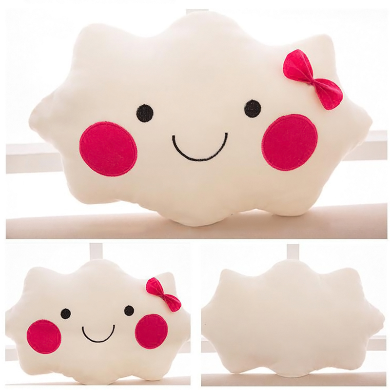 Cute White Cloud Shaped Pillow Plush Sofa Back Cushion Office Nap Bolster Gift eBay