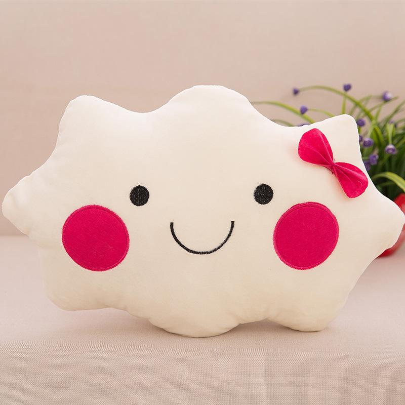 Cute White Cloud Shaped Pillow Plush Sofa Back Cushion Office Nap Bolster Gift eBay