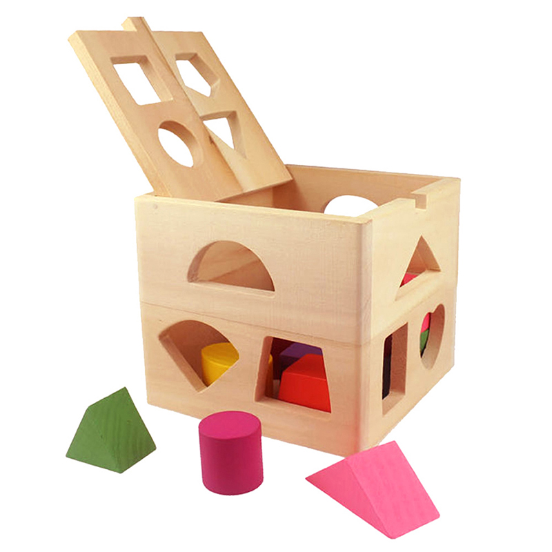 Baby educational toys wooden building block toddler