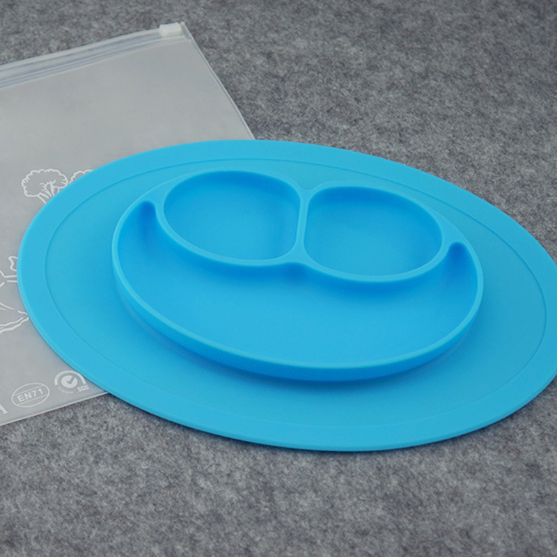 Baby Toddler Kids Feed Food Plate Silicone Feeding