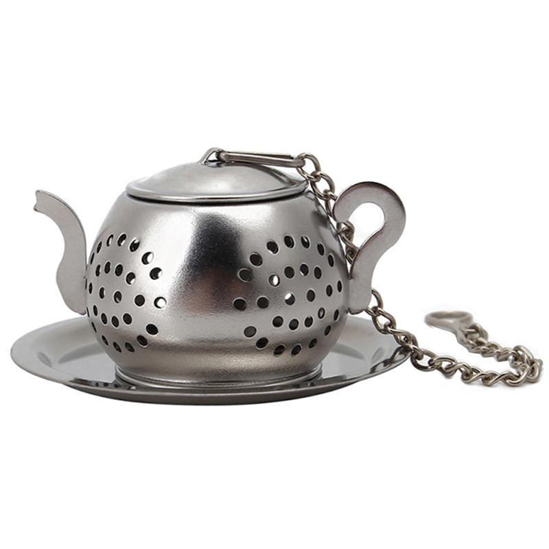 stainless steel tea leaf infuser ball loose mesh strainer