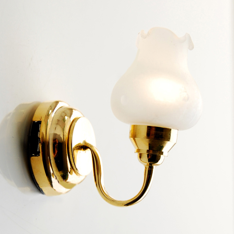 Dollhouse Miniatures Battery Lights: New Dollhouse Miniature Light 1:12 Scale Floral Wall Lamp