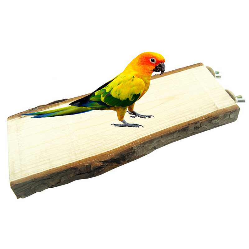 Bird Toys For Birds : Wooden parrot birds canary cage play stand perches rest