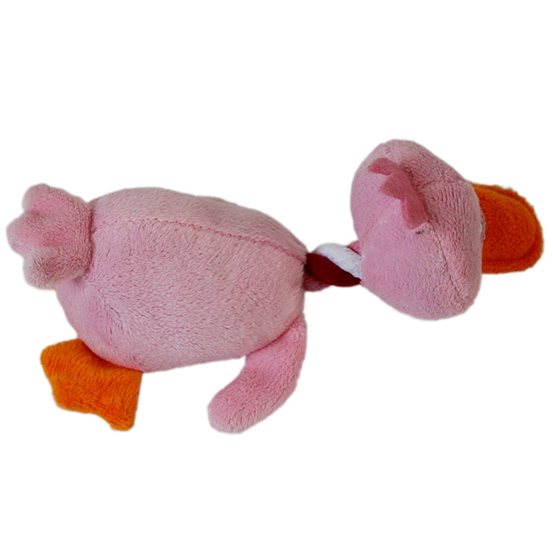 Soft Dog Toys : Soft pet dog puppy chew squeaker squeaky plush duck ball