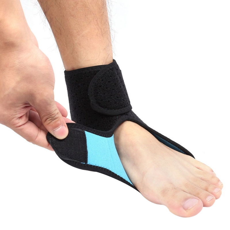 how to put on an ankle brace with straps