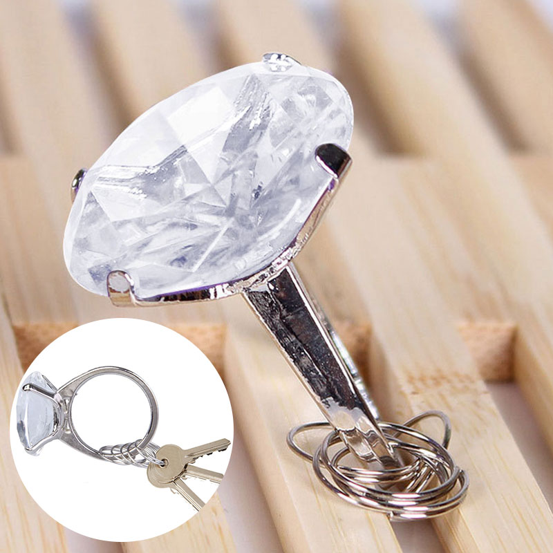 Big Fake Diamond Ring Keychain