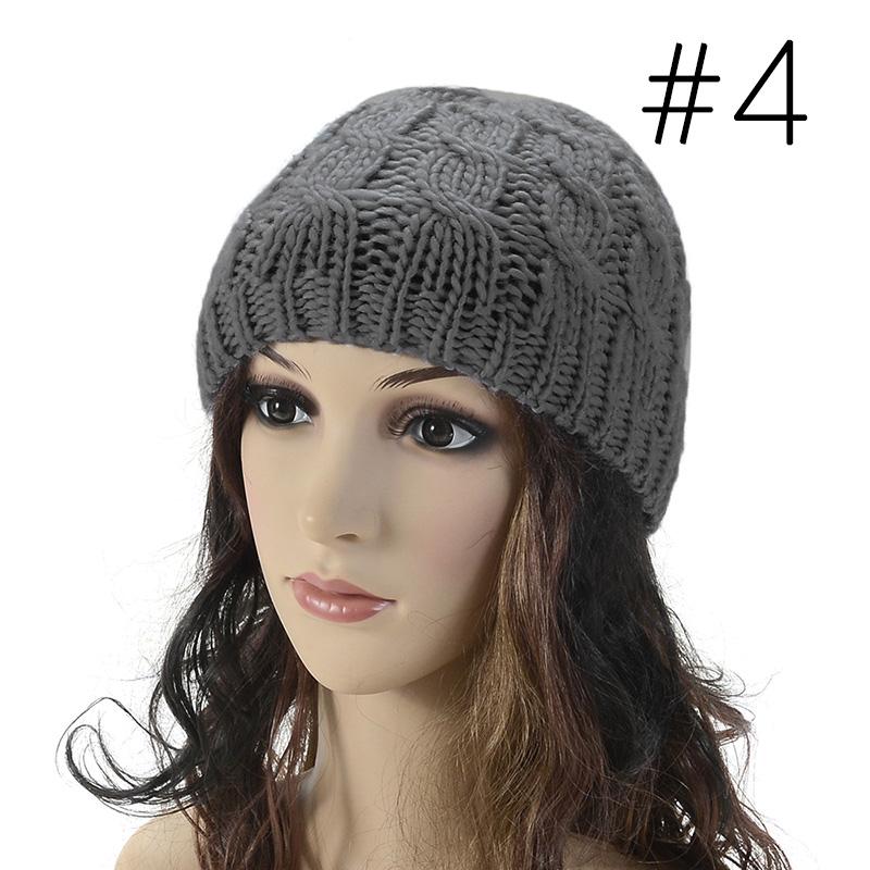 Baggy Beanie Hat Crochet Pattern : Women fashion Knit Winter Warm Crochet Hat Braided Baggy ...