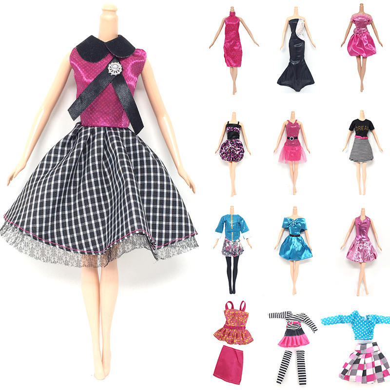 10pcs Handmade Dresses Clothes For Barbie Doll Style Random Gift Set 2017 Hot
