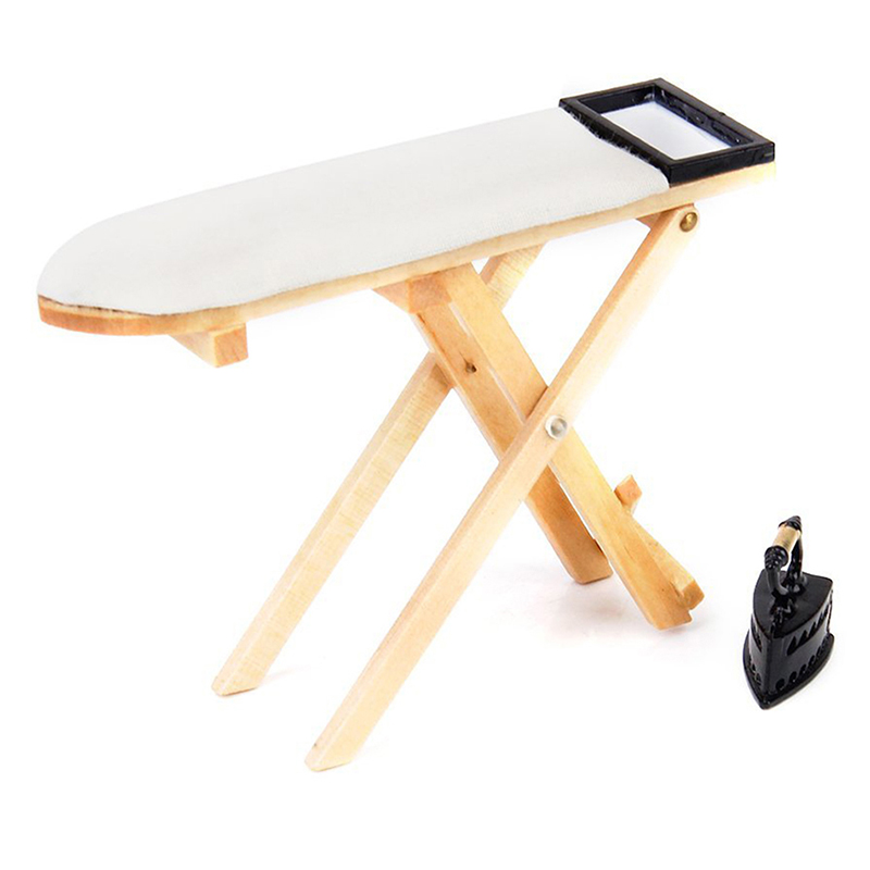 miniature bedroom mini ironing board table mini iron for. Black Bedroom Furniture Sets. Home Design Ideas