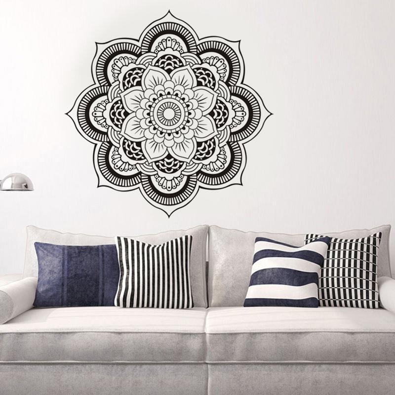 wandtattoo buddha buddhismus mandala schriftzeichen blume. Black Bedroom Furniture Sets. Home Design Ideas