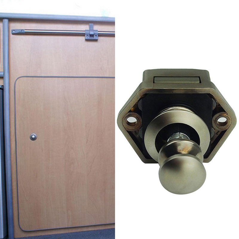 Mini Push Button Catch Lock Cupboard Door Knob Campervan
