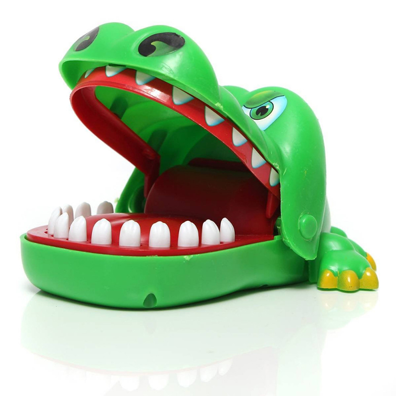 Toys For Biting : Cute large crocodile mouth dentist bite finger game funny