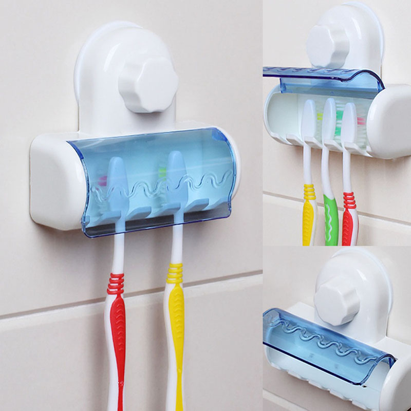 toothbrush spinbrush suction cup holder wall mount stand rack for home bathroom ebay. Black Bedroom Furniture Sets. Home Design Ideas