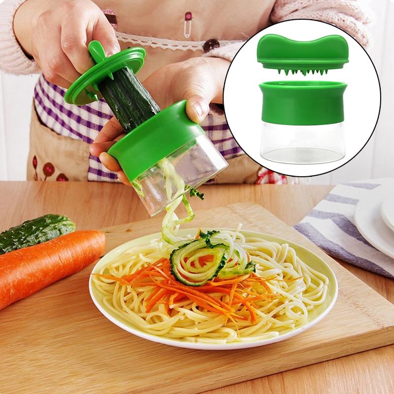 neu handheld spiralizer nudeln zucchini spaghetti pasta maker gem seschneider ebay. Black Bedroom Furniture Sets. Home Design Ideas
