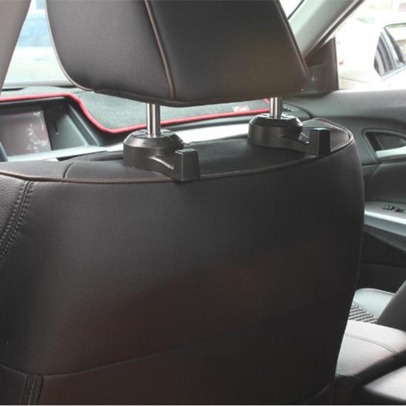 1 pair car back seat headrest hanger holder hook bag purse grocery organizer ebay. Black Bedroom Furniture Sets. Home Design Ideas