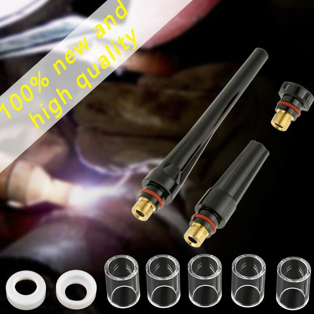 49 Pcs//Kit TIG Welding Torch Stubby Gas Lens #10 Pyrex Glass Cup For WP-17//18//26