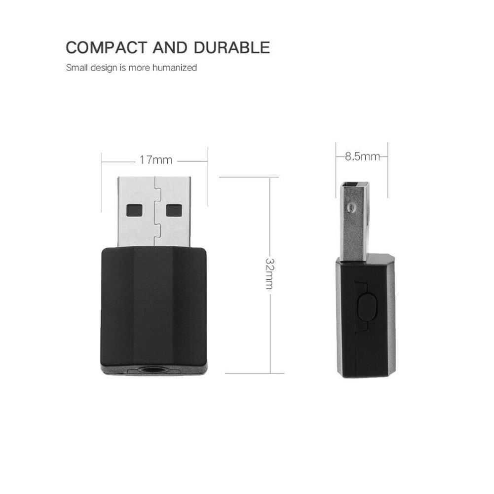 USB Wireless Adapter Bluetooth 5.0 Audio Stereo Receiver with mic for PC /_WK