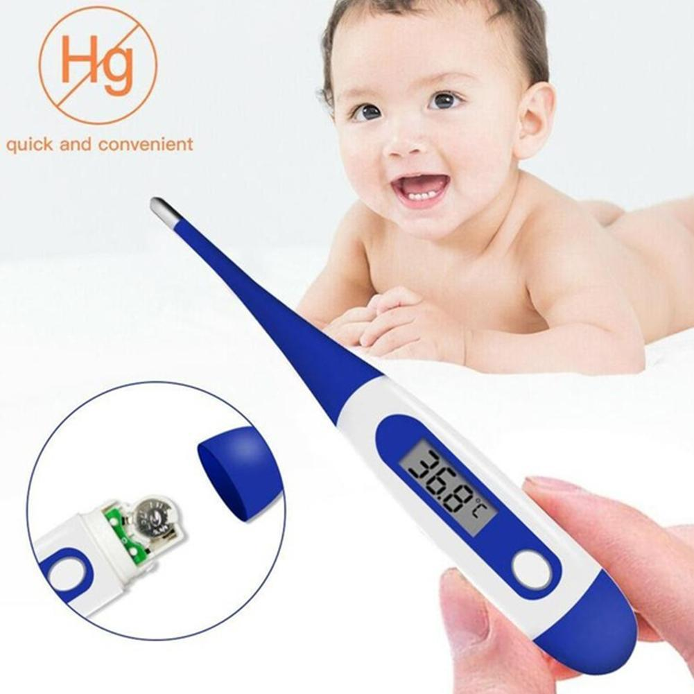 Soft Head Electronic Lcd Thermometer Digital Baby Adult Body Fev
