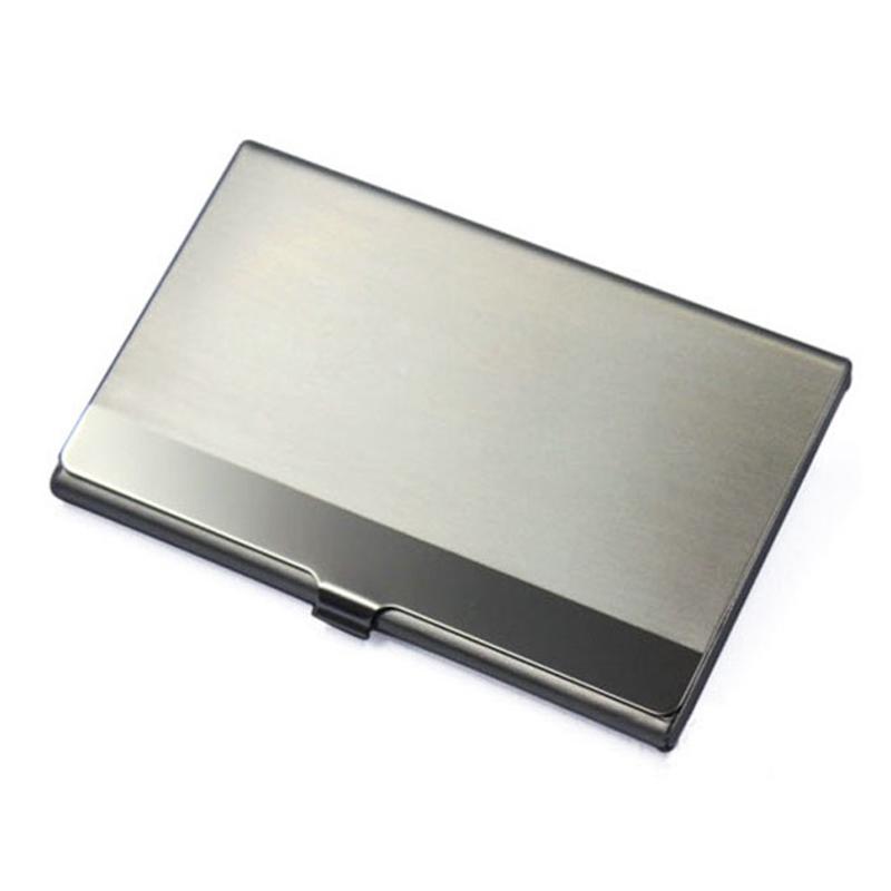 Pocket Edelstahl Metall Visitenkartenetui Case Id