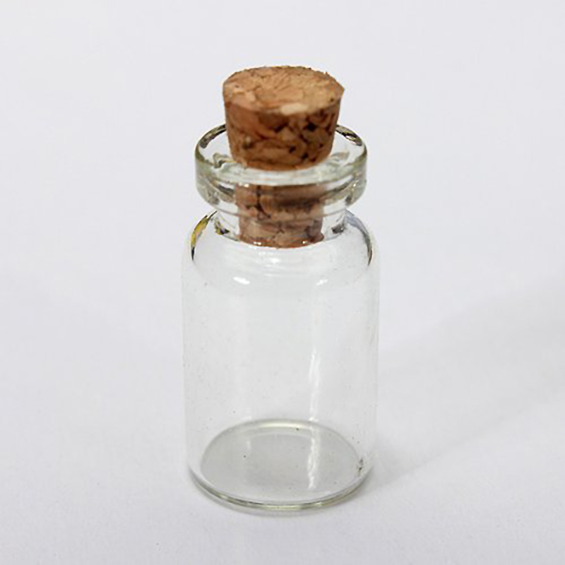 10pcs Korken Glasflaschen Vials Gläser Flüssigkeit Duftstoff-Behälter CSFD V1F1