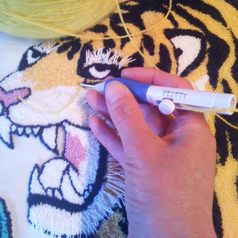 Zierstichnadel Stickstanze Punch Needle Nadel Handschaft