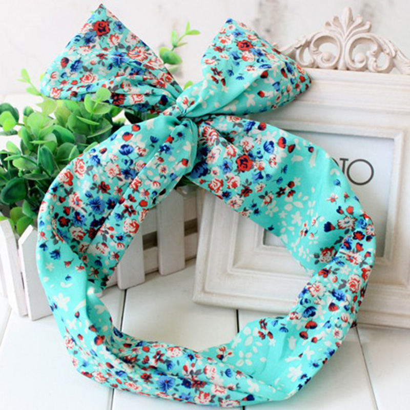 50\'s BUNNY EARS RIBBON TIE BOW BENDY WIRE / WIRED HAIR SCARF HEAD ...