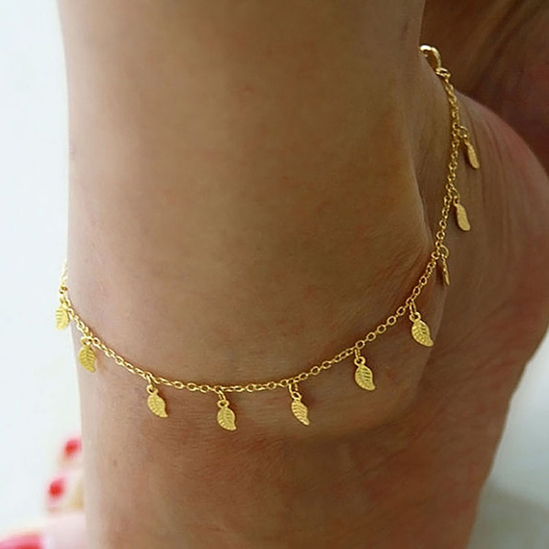 Sexy Simple Gold Anklet Ankle Bracelet Leaf Foot Chain. Silver Bangles. Medical Pendant. 7ct Diamond. White Gold Diamond. Beads Chains. Fenix Watches. Emerald Cut Necklace. Crocodile Leather Watches