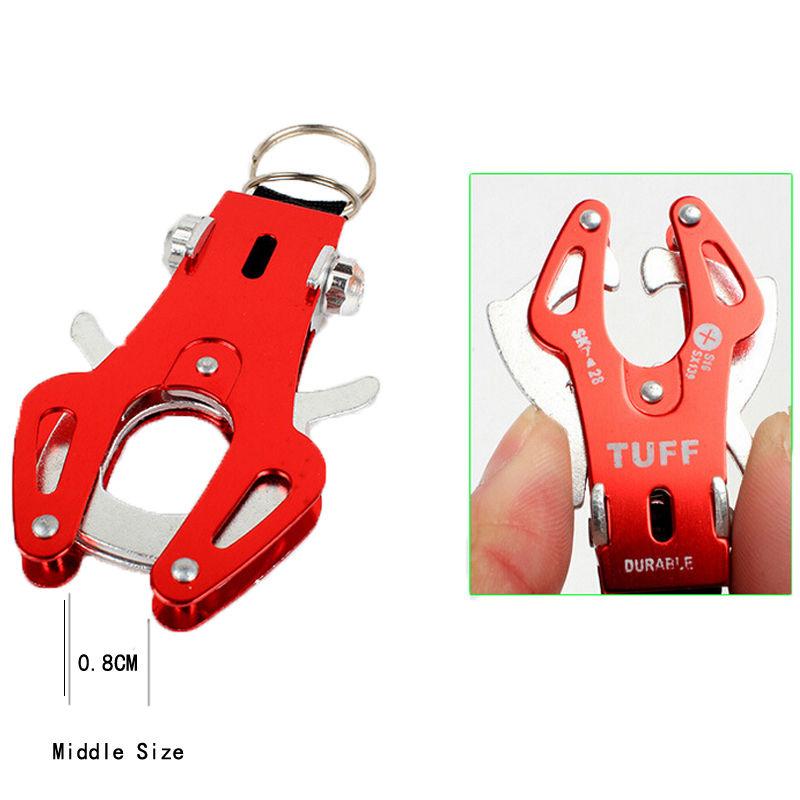 Tiger Hook Lock Carabiner Clip Hiking Climbing Tool Key Ring Keychain