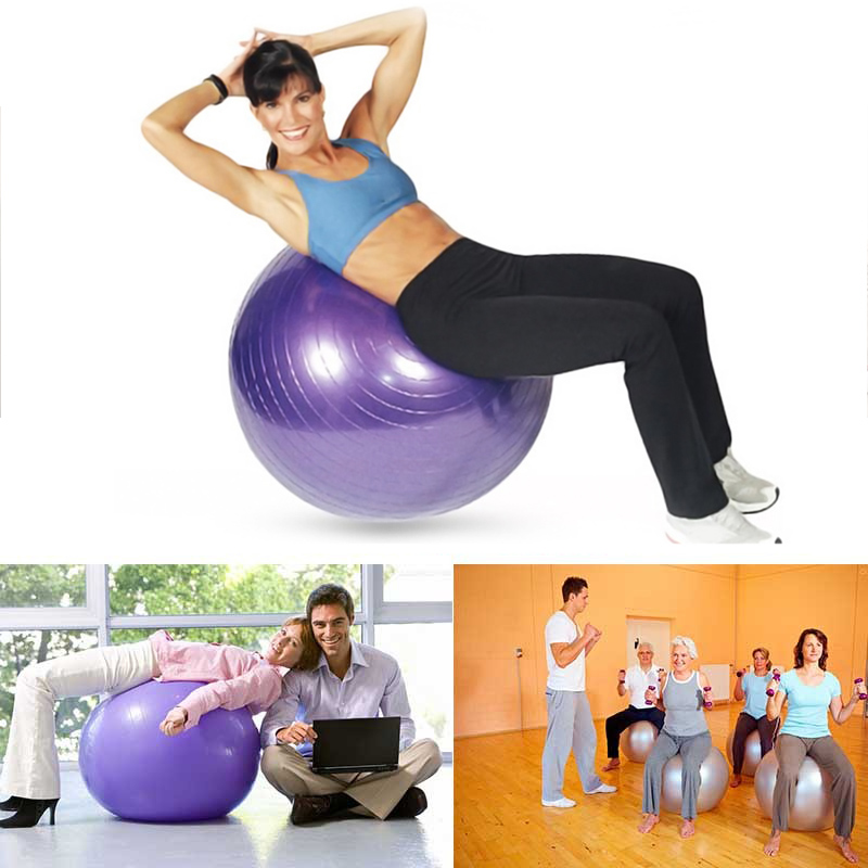 55/65/75cm Exercise Pilates Balance Yoga Gym Fitness Balls Aerobic Abdominal NEW | eBay