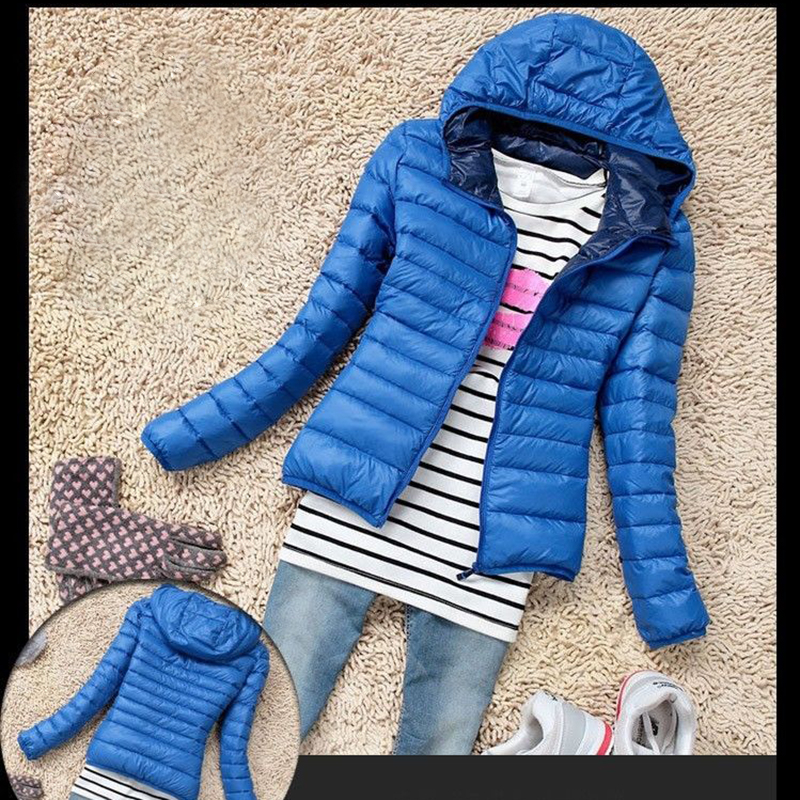 Winter Fashion Women Warm Quilted Jacket Padded Parka Slim Fit Down