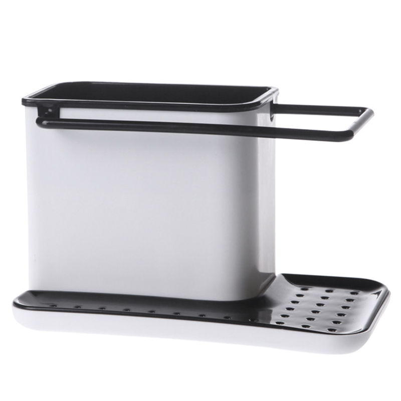 kitchen caddy storage plastic sink tidy cutlery holder caddy kitchen home sink 3306