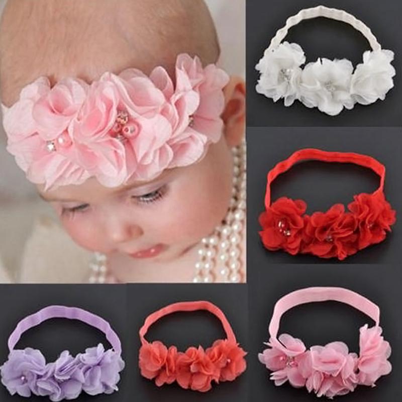 Baby Haarschmuck Mädchen Spitze Blumen Haarband Stirnband Kopfband 2018