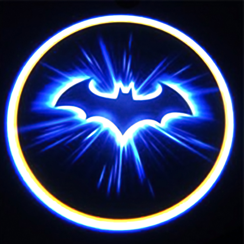 2x Wireless Logo 3d Batman Car Door Led Welcome Projector