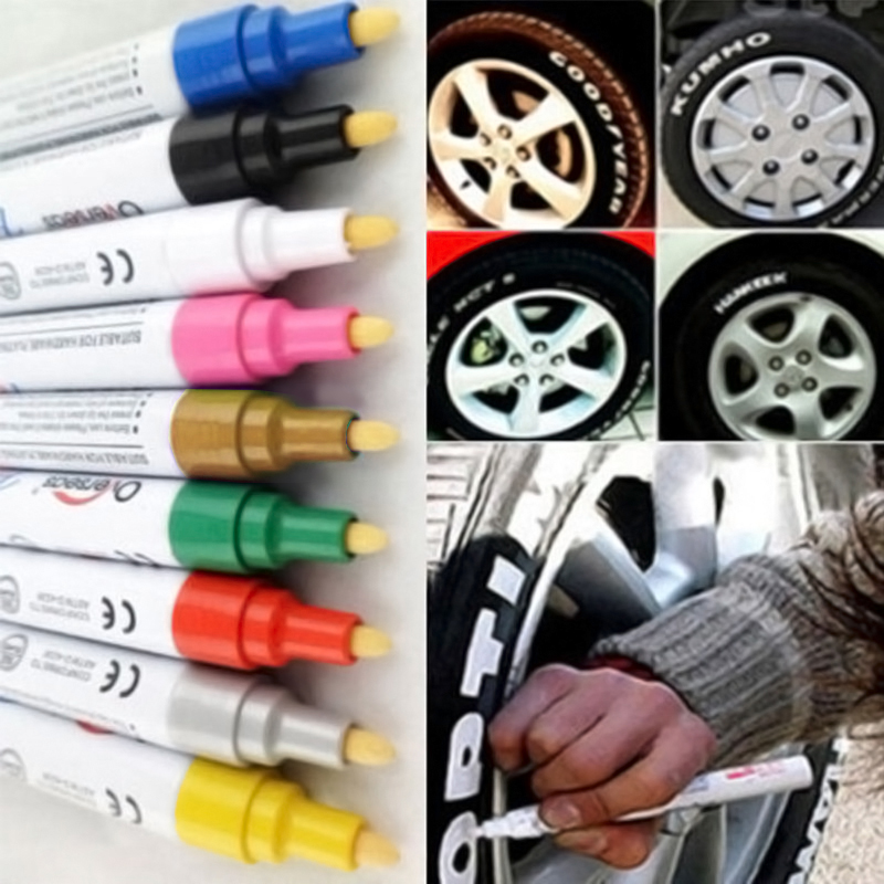 1 x 3 Farbe Reifen Permanent Lackstift Tire Metall Outdoor Tinte Marker PAL