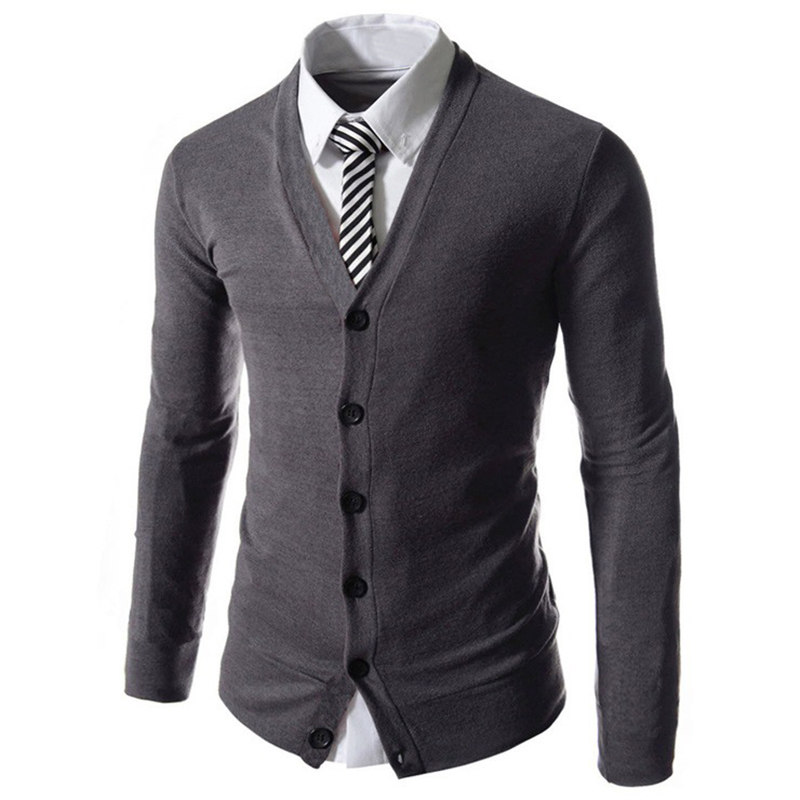 Stylish Men/'s Slim Fit V-neck Knitwear Pullover Cardigan Sweater Jacket Co Uxym