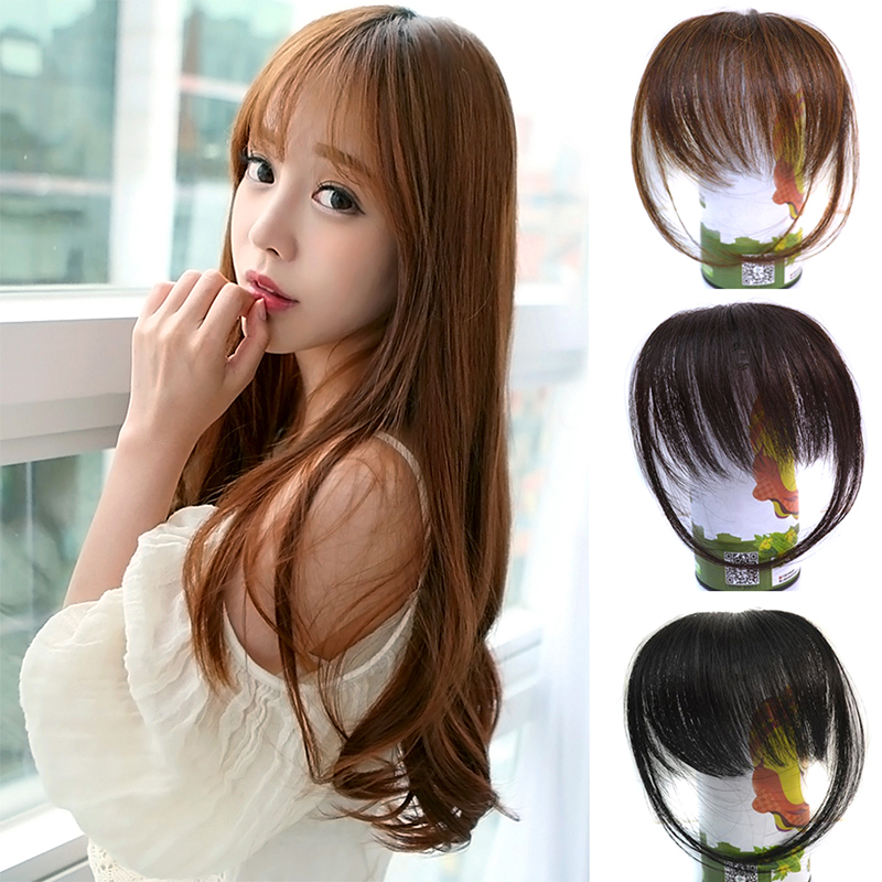 New Fashion Womens Straight Thin Fringe Bangs Hair Extension With