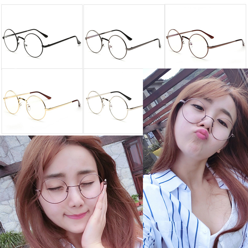 26a08a14f4 Details about Women Men Large Oversized Metal Frame Clear Lens Round Circle  Eye Glasses New