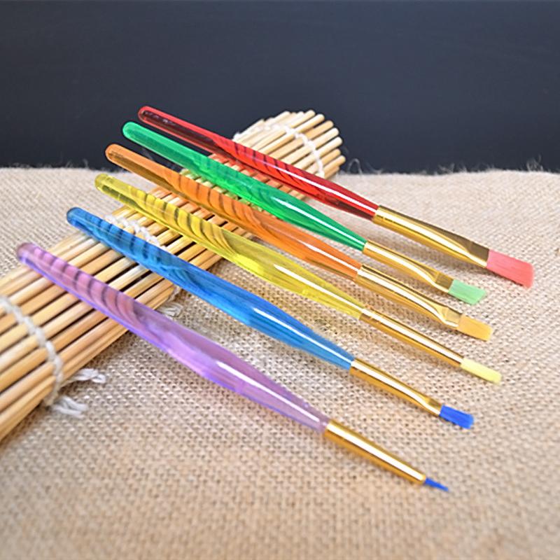 6Pcs Pinsel Bürsten für Kuchen Zuckerglasur Fondant Sugarcraft DIY Werkzeuge Neu