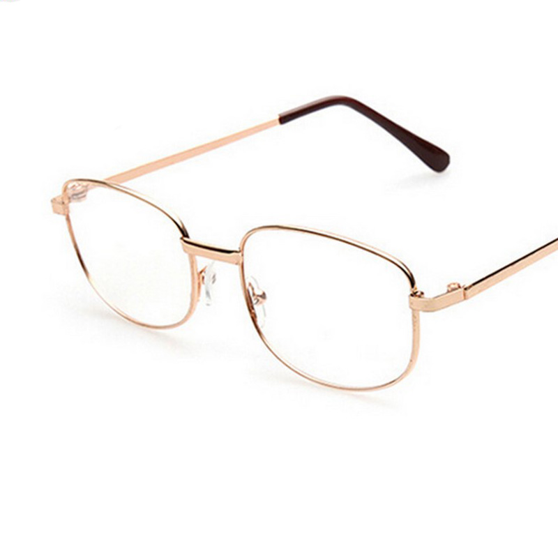 Lens Rimmed Men\'s Reading Glasses Gold Metal Frame Eyeglasses ...