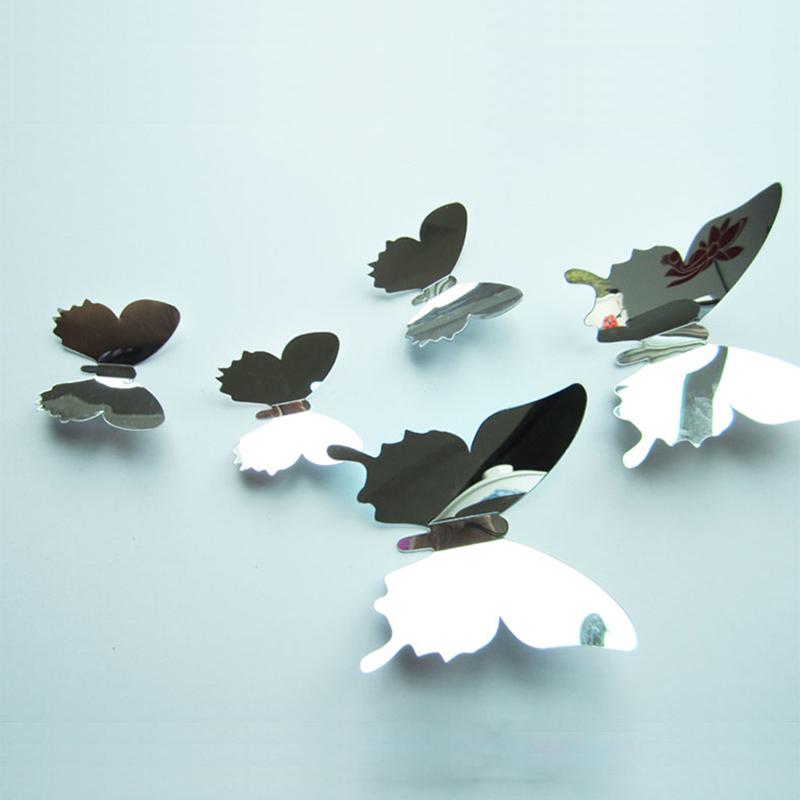 12x 3D Schmetterling Aufkleber Kunst Design Lebhaft Aufkleber Wand Sticker Neu A